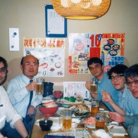 Me, Prof. N.Harada and his team (Sendai, 1996)