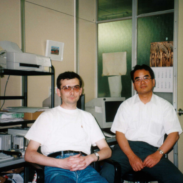 With Prof. M.Matsuoka (Kyoto Women's University, 1996)