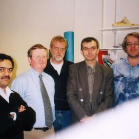 Dr H.Joshi, Prof. C.Gooijer, Dr G. van der Zwan, me and Dr F.Ariese (Vrije Uviversity Amsterdam, 2000)