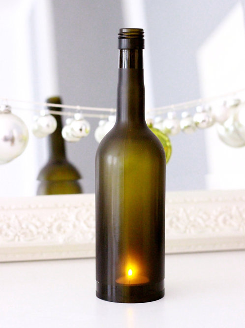 Windlicht aus Weinflasche