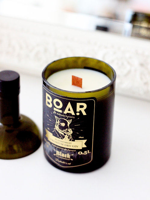 Kerze - Boar Flasche