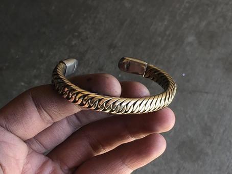 New bronze crossover bracelet
