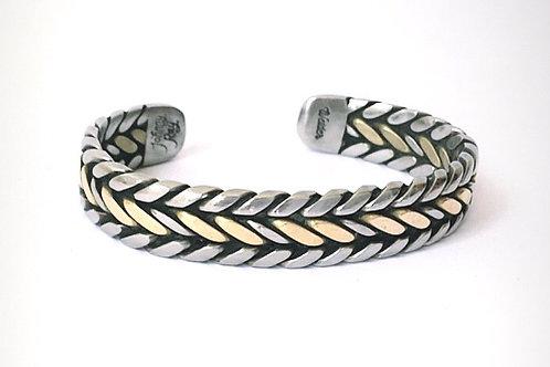 Bronze Center Twist Bracelet