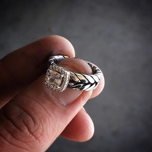 Princess Cut Swarovski Ring