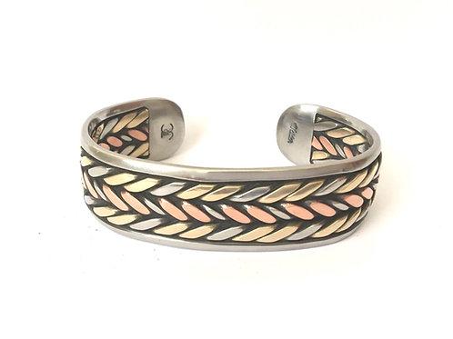 Big Bronze and Copper Bracelet