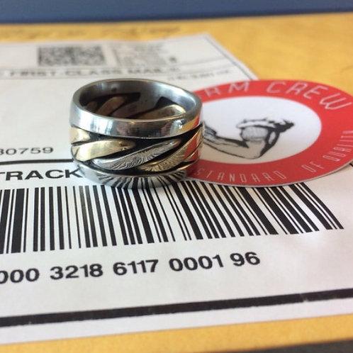 Bronze Center Welder Ring