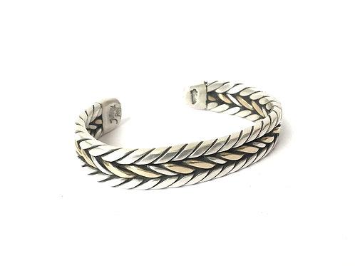Silver and Bronze Twist Bracelet