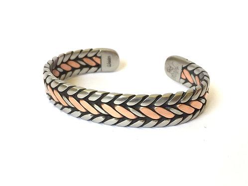 Copper Center Twist Bracelet