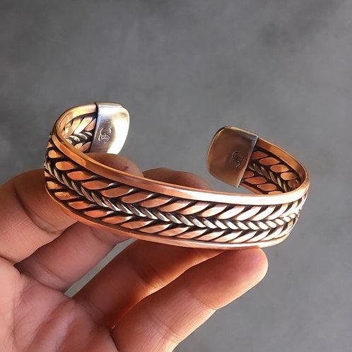 Solid Stainless Center Welder Bracelet