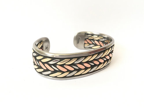 Big Bronze and Copper Bracelet
