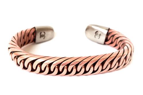 Copper Crossover Bracelet