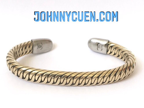 All Bronze Crossover Bracelet
