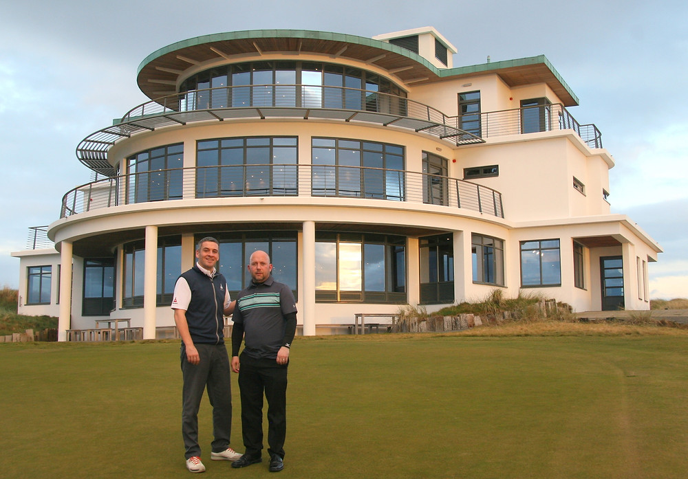 Local Open winner 2016 Walter Geddes (right) with Jeremy Matte, Castle Stuart director of golf