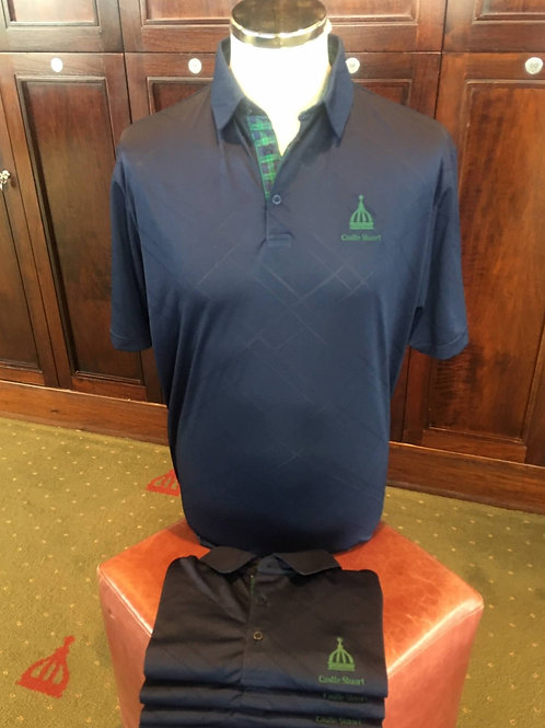Murray Golf Tartan Trim Polo