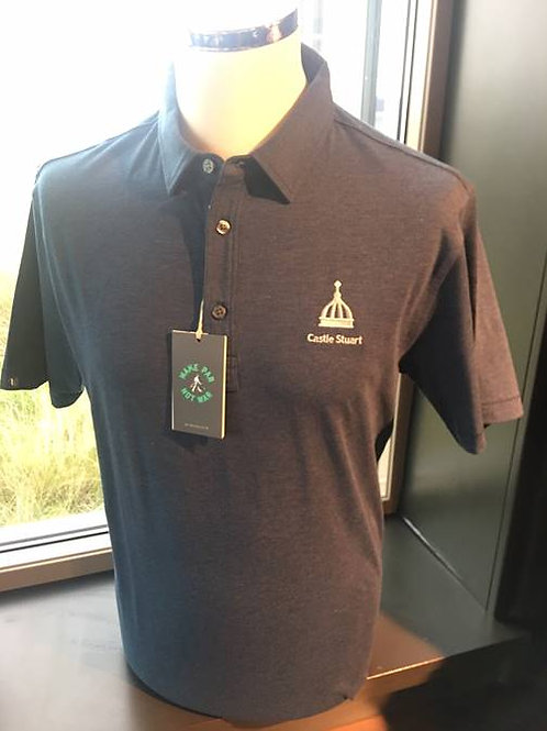 LINKSOUL Solid Stretch Polo Navy