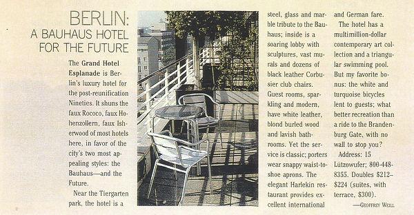 The Berline Bauhaus Hotel - Article Snip