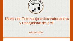 Resultados de la Encuesta por Teletrabajo