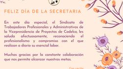 Saludo Día de la Secretaria