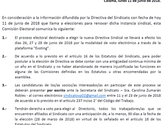 Comunicado Comisión Electoral