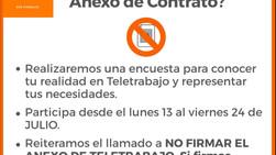 Participa de la Encuesta Sindical por Teletrabajo desde el lunes 13 al viernes 24 de julio