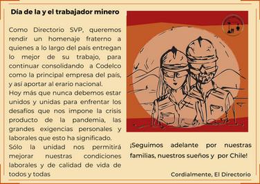 Feliz Día Mineras y Mineros