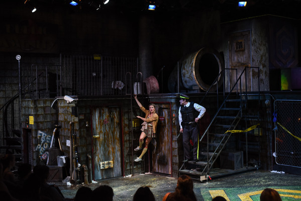 Urinetown The Warehouse Theatre Directed by Nancy Halverson Costumes by Allison Steadman Scenery by Shannon Robert Photos by Wallace Krebs