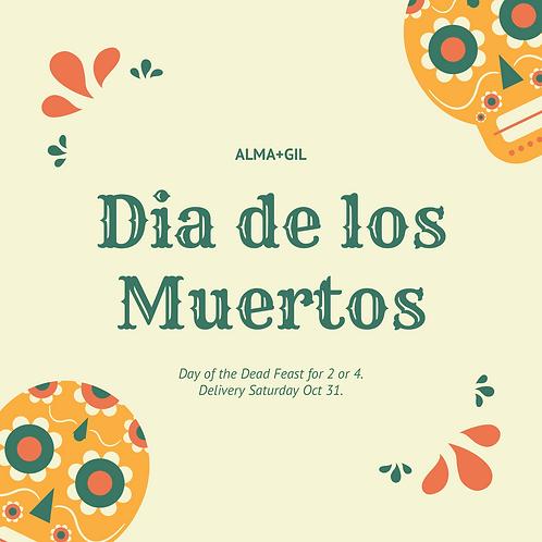 Day of the Dead - Dia de los Muertos Feast for four!