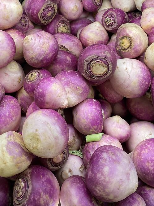 Root Vegetables, Turnips, Purple Top