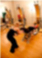 Patricia Stewart Gyrotonic Pulley Tower hamstring series master trainer Gyrotonic Gyrokinesis