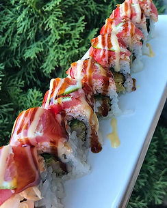 One of the popular sushi rolls of ours,