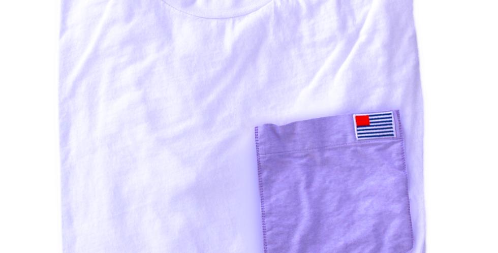 Long Sleeve T: Purple Pocket