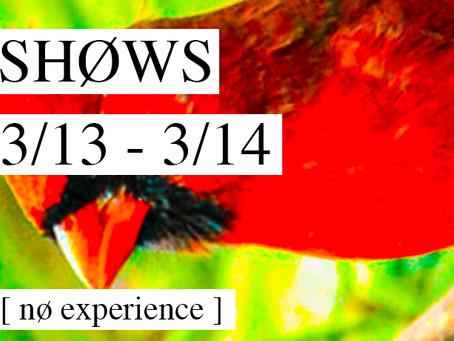 LØCAL SHOWS: 3/13 - 3/14