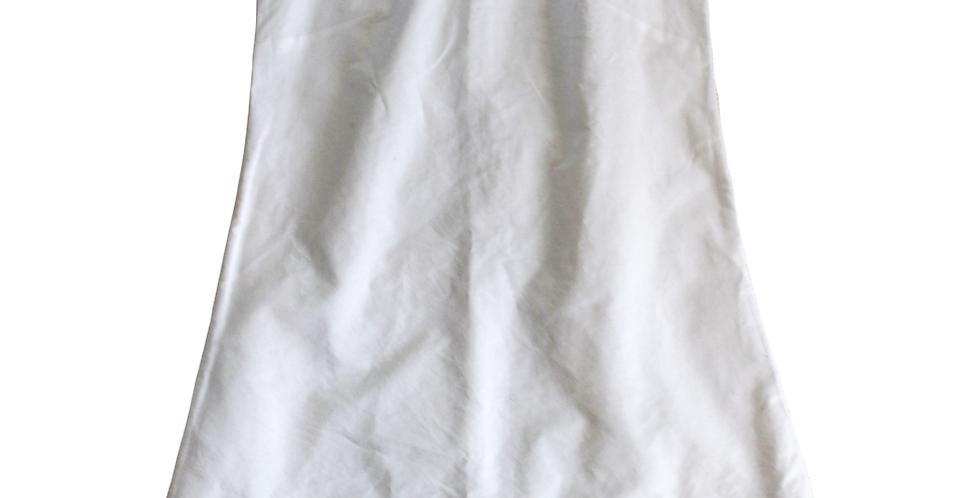 A-Line Shift Dress - White Oxford