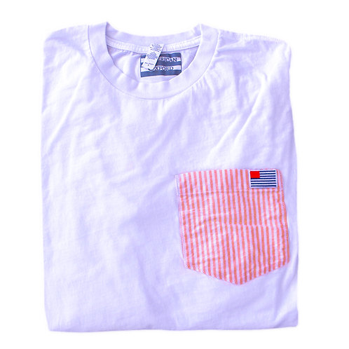 Red and White Stripe Flag Long Sleeve T-Shirt