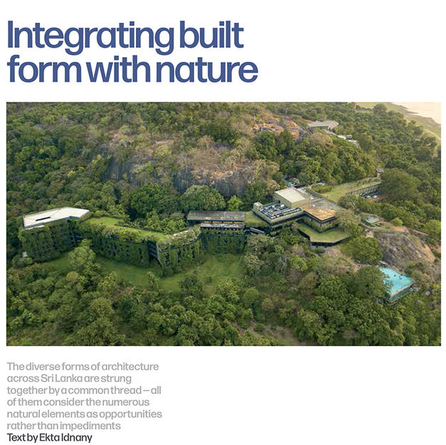Integrating built form with nature