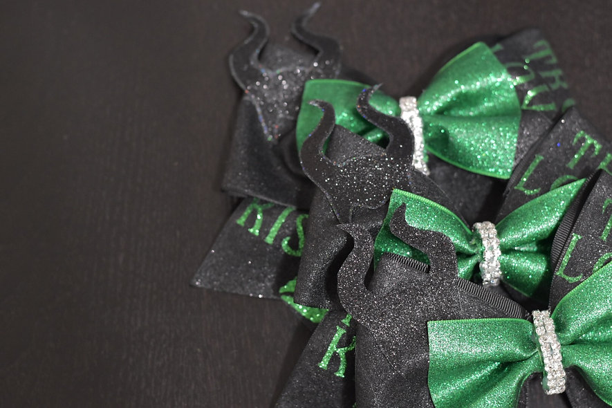 Maleficent True Loves Kiss Cheer Bow