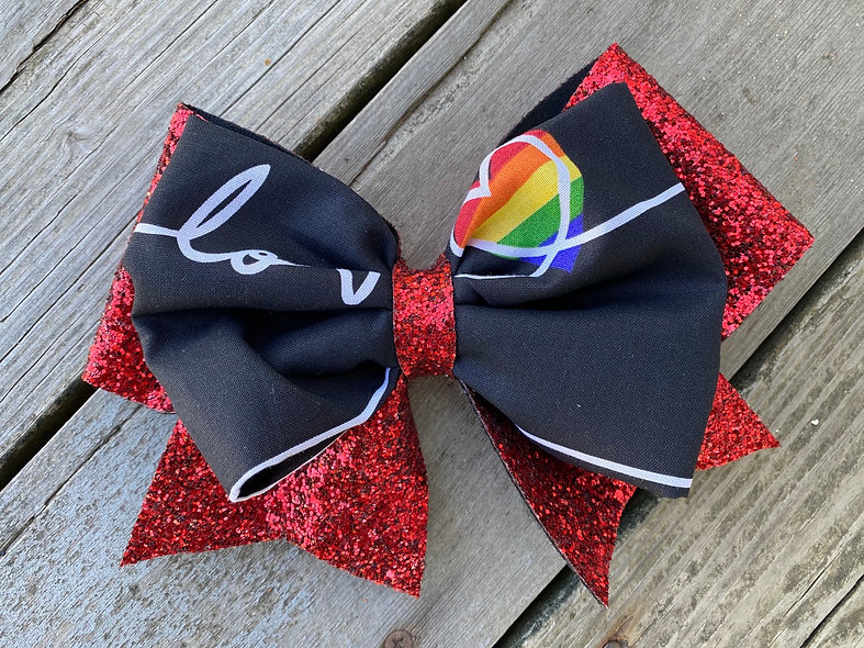Pride Month Love Minnie Cheer Bow - Limited Edition