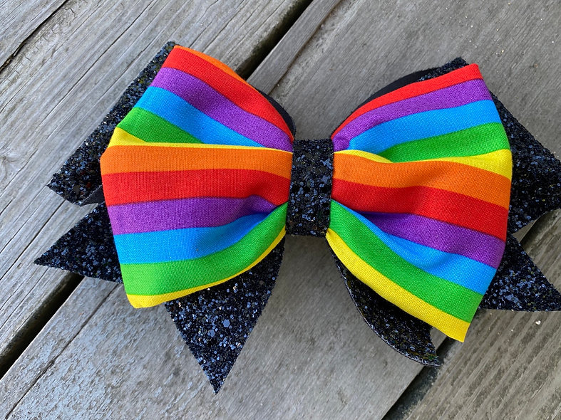 Pride Month Rainbow Minnie Cheer Bow - Limited Edition
