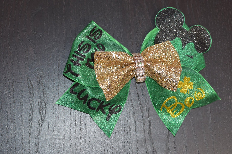This is My Lucky Bow Mickey Cheer Bow