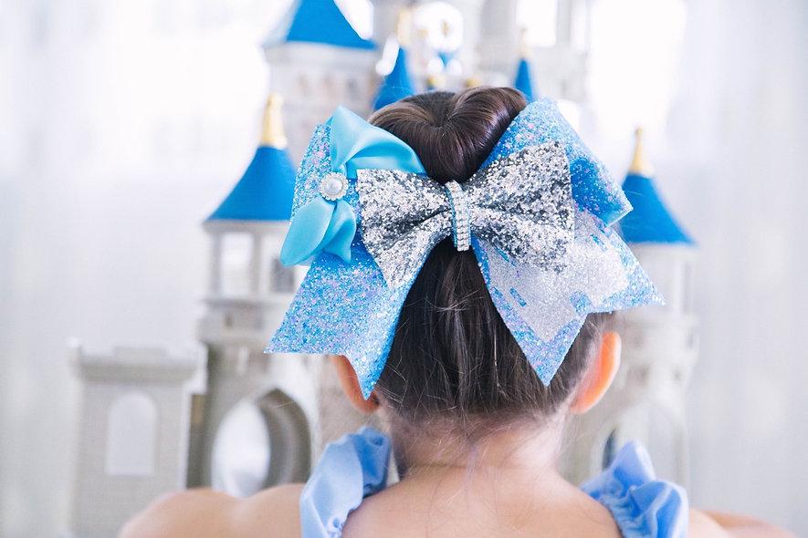 Cinderella Glitter Cheer Bow