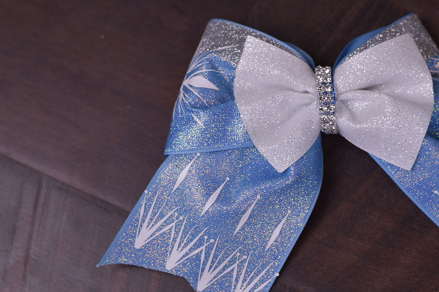 Frozen 2 Elsa Inspired Cheer Bow