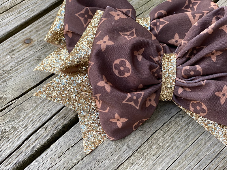 Brown LV Designer | Minnie Cheer Bow - Limited Edition