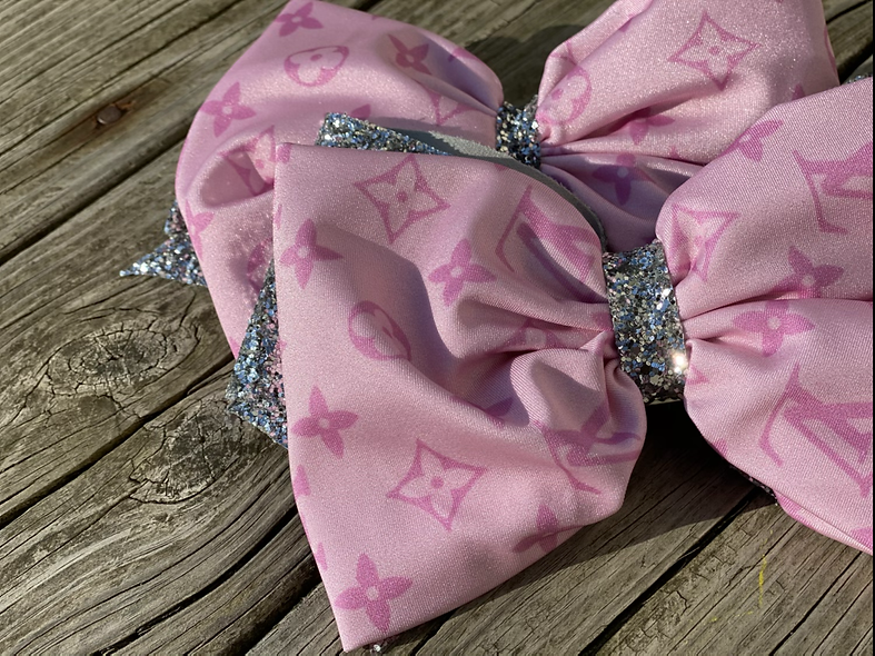 Pink LV Designer | Minnie Cheer Bow - Limited Edition