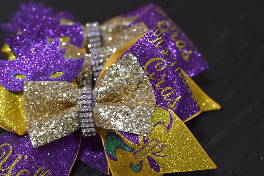 Mardi Gras Cheer Bow