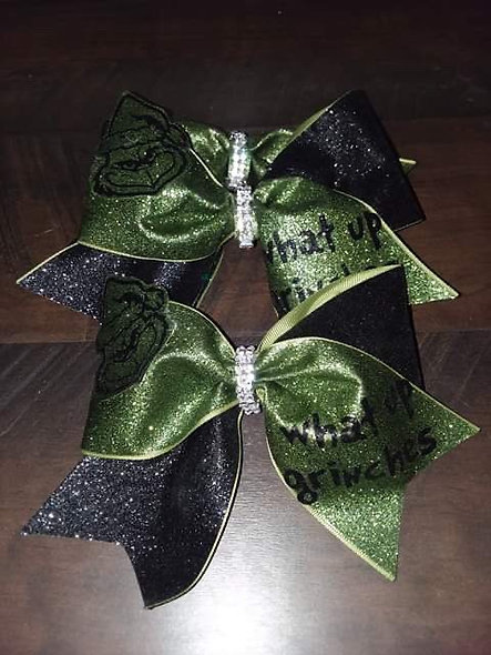 LDTutus What Up Grinches Cheer Bow
