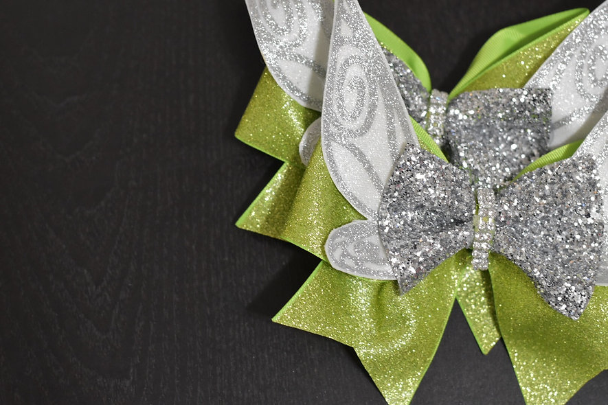Tinkerbell Pixie Wing Cheer Bow