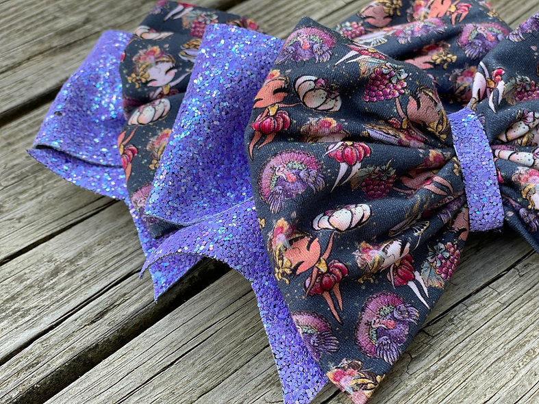 Fall Harvest Girls   Minnie Cheer Bow - Limited Edition