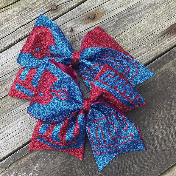 NY Giants Cheer Bow