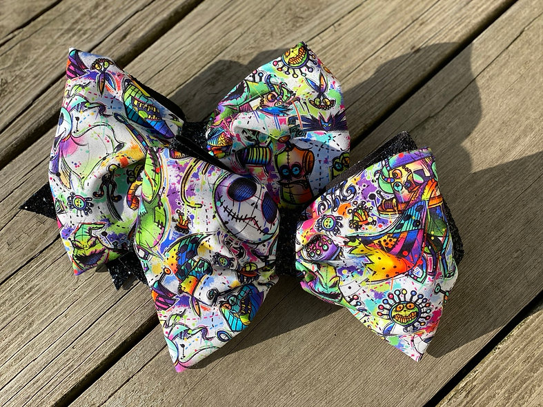 (non-Main Char) Nightmare Before Christmas  | Minnie Cheer Bow - Limited Edition