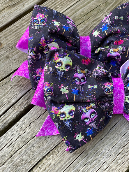 Halloween Skeleton Girls | Minnie Cheer Bow - Limited Edition